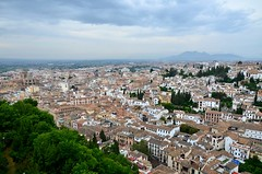 Alhambra view of Granada