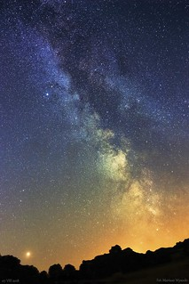 Mars, Saturn & Milky Way Galaxy