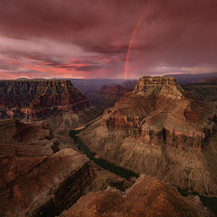Grand Glory 2 (Mark Metternich) Tags: grand grandcanyon canyon southwest desert monsoon monsoons rainbow storm thunderstorm thunderhead markmetternich markmetternichcom colorado river sandstone sand vista pink surreal surrealscape mountain mountains cliffs cliff red