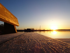 "Frosty Bench Pier Sunrise ☺ (crush777roxx) Tags: crush777roxx crush 20180411 2018 april 11th compact camera sony hx90v sweden stockholm scandinavia nordic landscape pier sunrise bench spring winter morning frosty sunlight swan duck ocean sea boathouse masts frost ice crystals natur landskap paysage 31821198 share kindness sharethekindness ""frosty morning"" ""winter sunrise"" ""springtime ""early stockholmsweden compactcamera sonyhx90v ❤️ snickerdoodle😊🌻 😊☀️ 😊bon🌻voyage🌻dear🌻friend 😊 hugs"