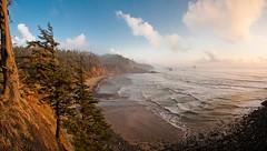 Indian Beach (karlsjohnson) Tags: beach coast karl landscape ocean oregon panoramic sun travel cannonbeach usa