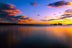 sunset 2654 (junjiaoyama) Tags: japan sunset sky light cloud weather landscape blue yellow orange contrast color bright lake island water nature summer calm dusk serene reflection