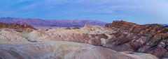 Zabriskie Point, Death Valley Dawn Panorama (Jill Clardy) Tags: california deathvalley northamerica usa zabriskiepoint dawn desert sunrise 20120305img9074pano panorama panoramic pano alpine glow explore explored