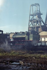 Bold Colliery, St Helens UK  |  1981 (keithwilde152) Tags: ncb bold colliery st helens robert uk 1981 industrial railway buildings architecture mine shafts steam locomotives outdoor autumn