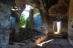 Abandoned Church. (Oleg.A) Tags: ruined saintnicolaschurch building cathedral church old brick outdoor rural evening dome countryside blue orange russia penzaregion summer orthodox style architecture exterior design ancient materials staryakutlya catedral outdoors staryykutlya penzenskayaoblast ru