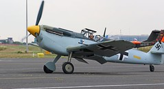 HA-1112 BUCHON AT NEWCASTLE  AIRPORT (toowoomba surfer) Tags: warbird aviation aircraft aeroplane ncl egnt