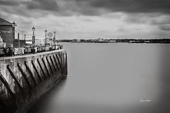 The Mersey. (Gra@Ashley) Tags: mono longexposure albertdock liverpool rivermersey