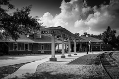 Aiken Train Depot (99baggett) Tags: aiken architecture bw depot railroad sc southcarolina train