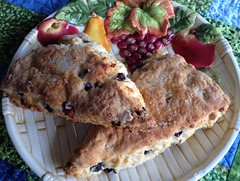 Saskatoon Berry Scones (Mr. Happy Face - Peace :)) Tags: scones art2018 berries cake saskatoon dessert yummy freshbaking
