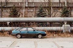 FSO Polonez Caro MR'91 (m.wojnar) Tags: fso polonez polonezcaro car praktica prakticabc1 pentacon prakticar fuji fujicolor fujifilm superia superia400 c41