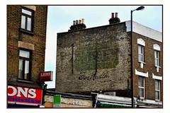 GHOSTSIGN FOR DAREN BREAD (StockCarPete) Tags: darenbread bread ghostsign londonlettering chimneypots brickwork oldbritishsigns peckham london uk