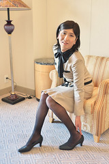 Office uniform 1511_2_06 (akichan980) Tags: crossdressing crossdresser 女装 officelady businesswoman ol ol 事務員 uniform 制服 事務服 japanese suit