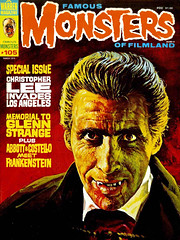 Famous Monsters #105 (1974), Christopher Lee cover by Basil Gogos (gameraboy) Tags: vintage famousmonsters 105 1974 christopherlee cover basilgogos 1970s art illustration