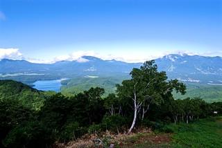 Three Peaks and Lake