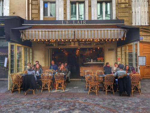"""Paris France - L'Eclair - 32 rue Cler à Paris,  75007 Paris, France - """"Best Hangout on rue Cler."""