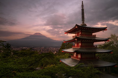 Rhapsody in August (Darkness of Light) Tags: mtfuji mount mountain japan fujiyoshida chureito churieto pagoda kawaguichi sony a7r2 a7rii gm gmaster