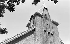 Mighty (Arne Kuilman) Tags: kosmofoto kosmofotomono iso100 contax zeiss 50mm 50mmf17 slr film homedeveloped pyrocathd 11minutes developed developer netherlands nederland church kerk