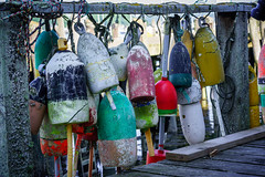 Old Buoys in Friendship Maine (appliguy89) Tags: maine coast mainecoast lobsterbuoys friendship