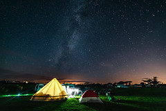 The 4am Bed Time (Rob Pitt) Tags: rhoscolyn holy island north wales a7rii long exposure anglesey landscape sky coast samyang 14mm f28 sequator grass camping bell tent