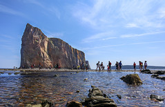 Touching the Rock (Danny VB) Tags: rocher percé rock hole rocherpercé gaspésie québec canada canon eos 100m pov perspective low angle water ocean sky people tourists walking touchingtherock summer été reflection reflet dannyboy canoneosm100 efm1545mmf3563isstm canonefm1545mmf3563isstm mirrorless sansmirroir photo photography