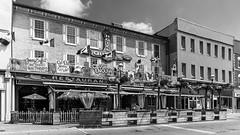 Midland, Ontario, Canada (Agirard) Tags: street bw blackwhite midland ontario canada vintage 1850 architecture bar restaurant batis18 batis 18mm 182 zeiss sony a7ii