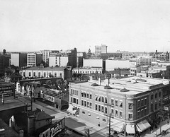 Looking down on the Kensington Building at Portage & Smith Street, 1920s (vintage.winnipeg) Tags: winnipeg manitoba canada vintage history historic