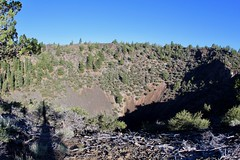 View of Mammoth Crater in the morning (daveynin) Tags: lavabeds crater volcanic