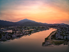 August 2018 Fires (sberkley123) Tags: mounttamalpais colors parrotanafi usa sunset marin califonia