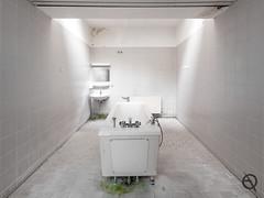 Purification (_NeQo_) Tags: white tiles room bath thermae abandoned forgotten mystica decayed water mirror vanishing skylight hotel ngc nostalgic