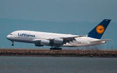 Lufthansa D-AIMM at SFO (SBGrad) Tags: 200500mmf56e 2018 a380 a380800 alr airbus daimm d90 ksfo lufthansa nikkor nikon sfo sanfrancisco sanfranciscointernational airplane airport
