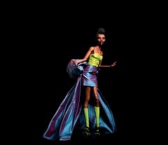 Lime and Blue (FBJDcollector) Tags: blackdollstribalfacepaint couture glamour resin fashiondoll 16 dolls