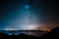 Milky Way over Zadar (NINAC video production) Tags: way milky night galaxy sky background universe space nature happy nepal starry star travel long exposure nebula woman man mountain cosmos stars people pointing dark silhouette astronomy trekking constellation hills beautiful blue sony a7s astrophotography