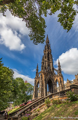 Scott Monument (martin.baskill) Tags: canon 5dmk4 trees garden sunshine clouds princesstreet sirwalterscott edinburgh scotland author monument gothic people sky