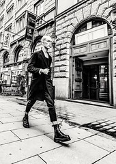 Determined... (mikeback-streetphotography) Tags: streetstyle streetphotographer stockholm streetarteverywhere streetportrait streetphotographystreet streetlife streetphoto streetartistry streetart streetphotographers station street urban bnw blackwhite black blackandwhite blackandwhitephotography monochromatic monochrome mono