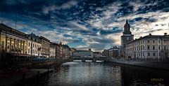 Gothenburg is beautiful (m3dborg) Tags: göteborg gothenburg city architecture building river mirroring reflection hdr sky blue clouds bridge cityscape