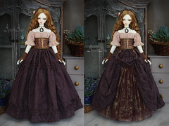 Western Showgirl (AyuAna) Tags: bjd ball jointed doll dollfie ayuana design minidesign handmade ooak clothing clothes dress set gown robe vetement fashion couture fantasy steampunk style sd sd13 sd10 feeple60 sewing sewingfordolls sadol love60 yena whiteskin