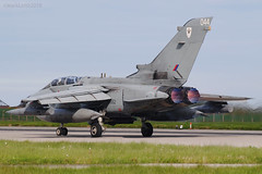 Royal Air Force, Tornado GR4, ZA552 / 044. (M. Leith Photography) Tags: raf lossiemouth moray scotland royal air force jet panavia tornado gr4 sunshine side aviation photography mark leith nikon lossie grass cockpit sky aircraft airplane