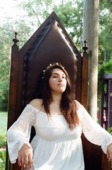 I have the throne (gjuarez49) Tags: renaissance fair lomography 100 minolta x700 film musket cosplay summer portait