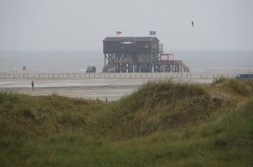 A la plage, Sankt Peter-Ording, Nordfriesland, Schleswig-Holstein, Allemagne.