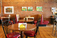 At The Lunch Studio (Flint Foto Factory) Tags: flint michigan urban city summer august 2018 home town hometown annual backtothebricks car festival downtown geneseecounty lunchstudio restaurant sandwiches lovely healthy delicious good orange faygo pop soda one bottle onebottle 444 ssaginawst soft drink