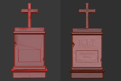 Tombstone - Front - Low Game Opt. & High Poly (Aloe [Alli Keys]) Tags: