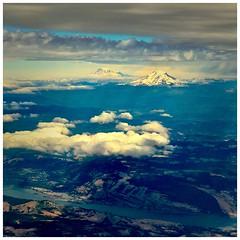 Going Home: Mt. Adams and Mt. Rainier (jcurtis4082) Tags: adams rainier cascades wa camera columbia square consulab