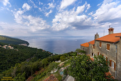 Amazing view on beautiful coastal town Moscenicka Draga, city Rijeka and the gulf of Kvarner from old town Moscenice, Kvarner, Croatia (Alen Ferina photography) Tags: moscenice mošćenice moscenickadraga mošćeničkadraga rijeka fiume kvarner primorje adriatic jadran mediterranean europe europeanunion eu jadranskomore sea coast oldtown city bay gulf town hill houses architecture summer day landscape panorama panoramic view scenic elevated hills boats road coastal croatian landscapeoriented horizontaloriented coastaltown place rural attraction hilltop viewpoint vista