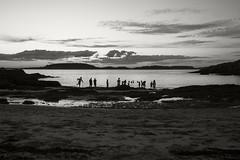 Sunset Beach Hermit Island 02 (frntprchprss) Tags: hermit hermitisland sand silhouette summer sunset beach maine jamesgehrt blackandwhite