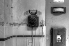 where is the ghost? (3-day-beard / 3-tage-bart) Tags: alt old telefon telephone weiss schwarz schwarzweiss blackwhite white black blacknwhite