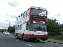 Redline Travel (Hesterjenna Photography) Tags: yil6980 bus psv coach pyoneer volvo eastlancs b10m morecambe preston lancashire redline travel transport