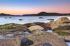 Sunrise Seascape with Clear Skies (Merrillie) Tags: daybreak sunrise nature dawn morning coast water northpearlbeach sea newsouthwales rocks pearlbeach nsw rocky waterscape ocean earlymorning landscape waves coastal clouds outdoors seascape australia centralcoast sky seaside