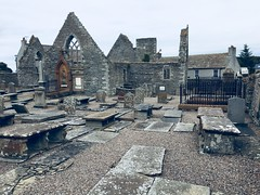 Ruins of the 15-16th century St Peter's Kirk at Thurso. The original place of worship long gone was founded during the 12th century. (Bennydorm) Tags: peter stpeter's grey gravestones churchyard tombs graves graveyard historic europe uk britain stpeter lascozia escocia ecosse schottland scotland caithness thurso iphone6s luglio julio juillet july building church kirk ruin