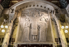 Saint John Fisher and Saint Thomas More (Lawrence OP) Tags: fishermore saints martyrs ericgill carving stone relief jesuschrist cross king priest westminster cathedral basrelief stjohnfisher stthomasmore