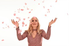 Rose Petals. (pstone646) Tags: youngwoman younglady people portrait pretty beauty blonde studio indoors fun browneyes longhair smile petals